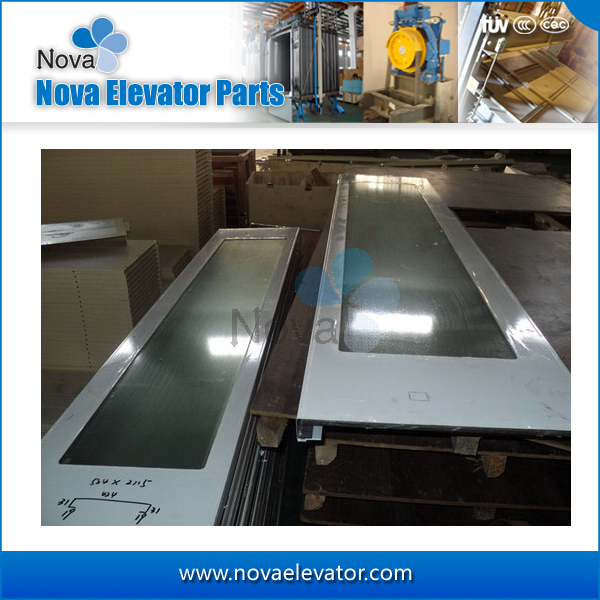 Elevator Glass Door, Panoramic Elevator Automatic Center Opening Glass Door for Elevators and Lifts